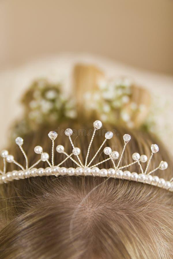 新娘接近的头发s冠状头饰 库存图片