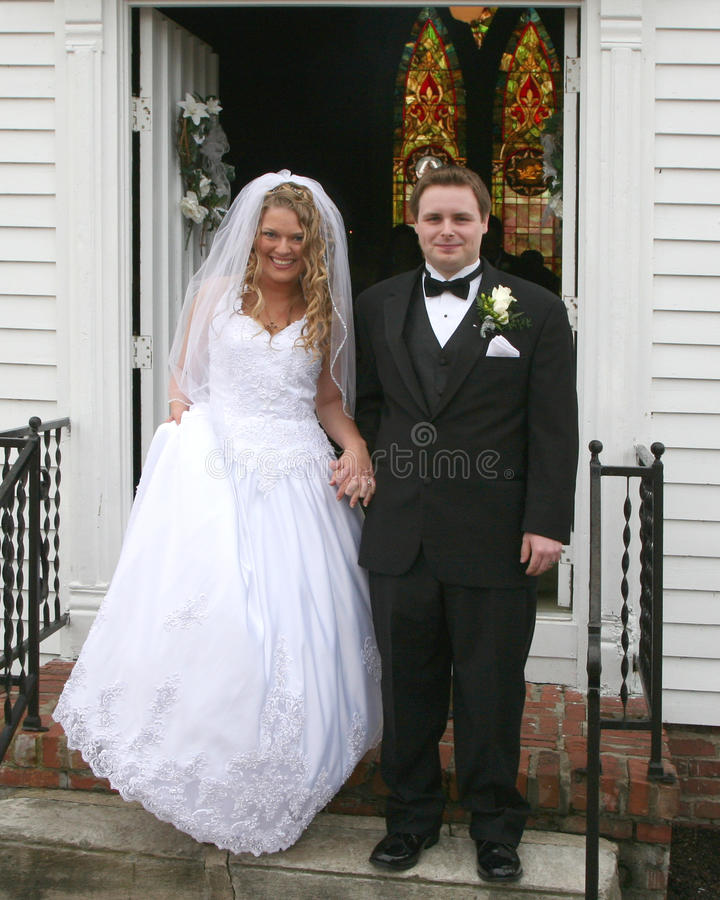 新娘教会新郎步骤 库存照片