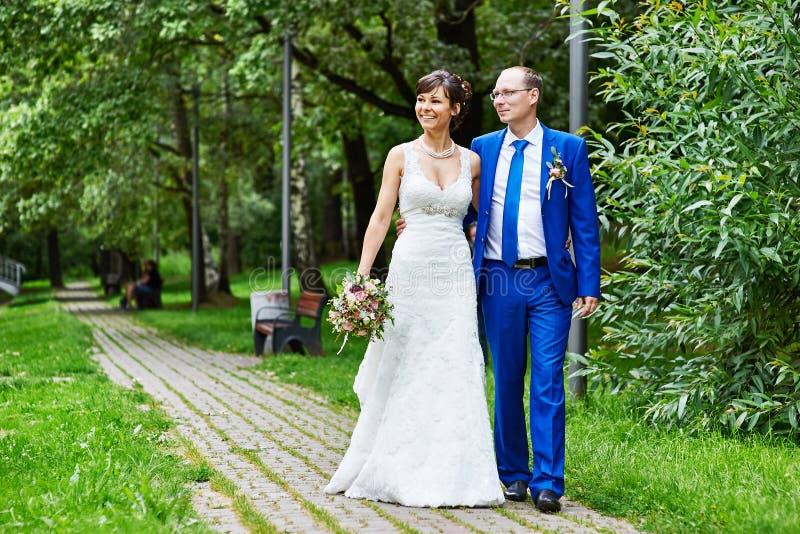 新娘新郎结构婚礼 库存图片