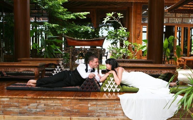 新娘新郎 免版税库存图片