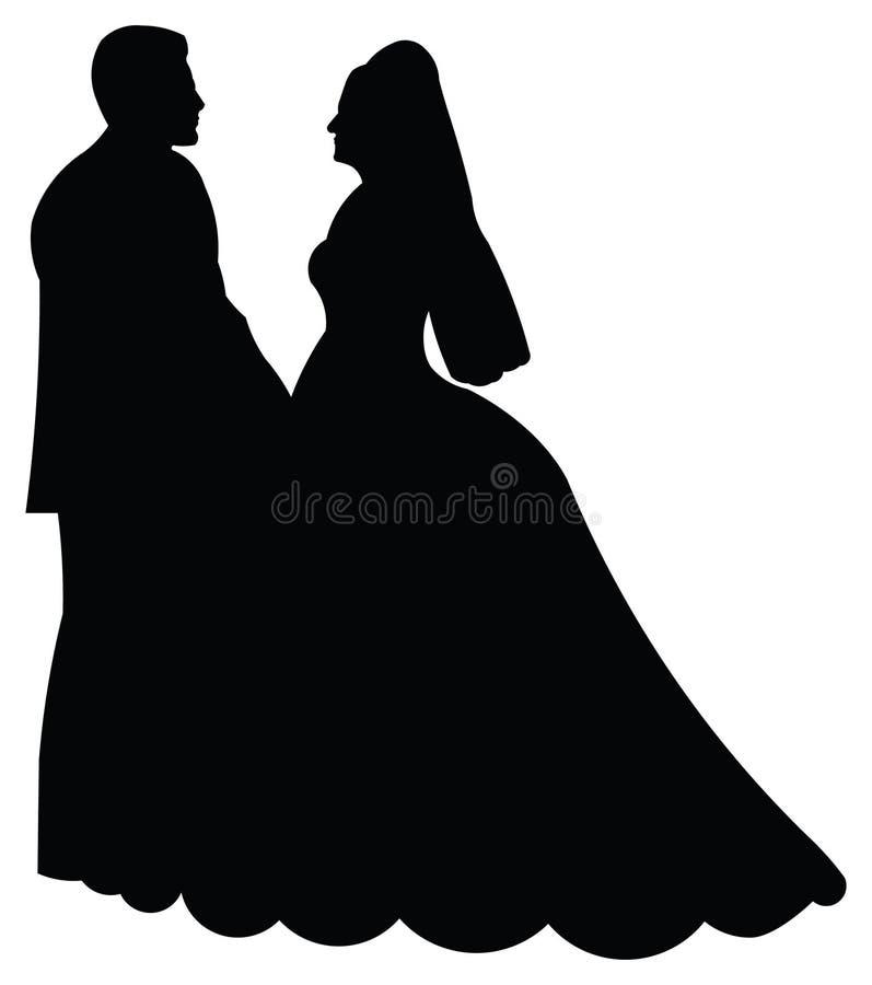 新娘新郎 皇族释放例证