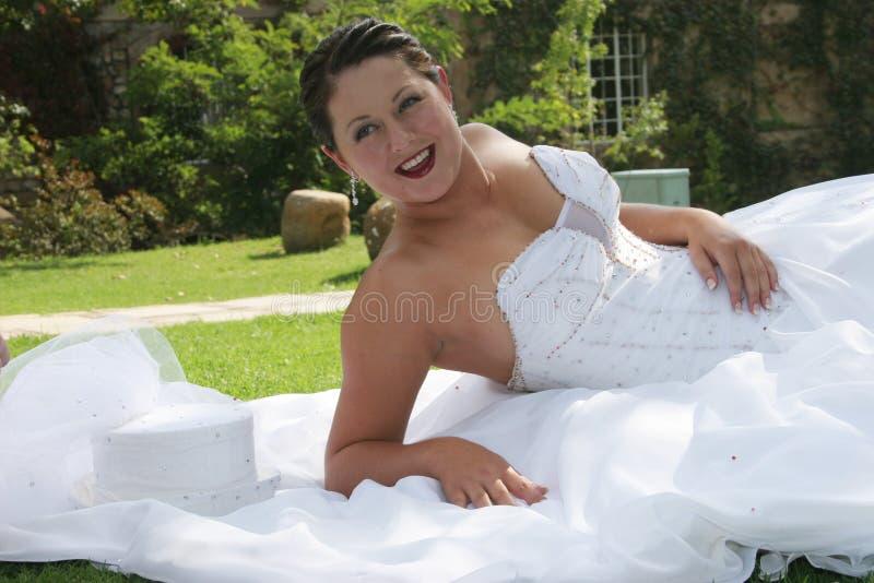 新娘日她的婚礼 免版税库存图片