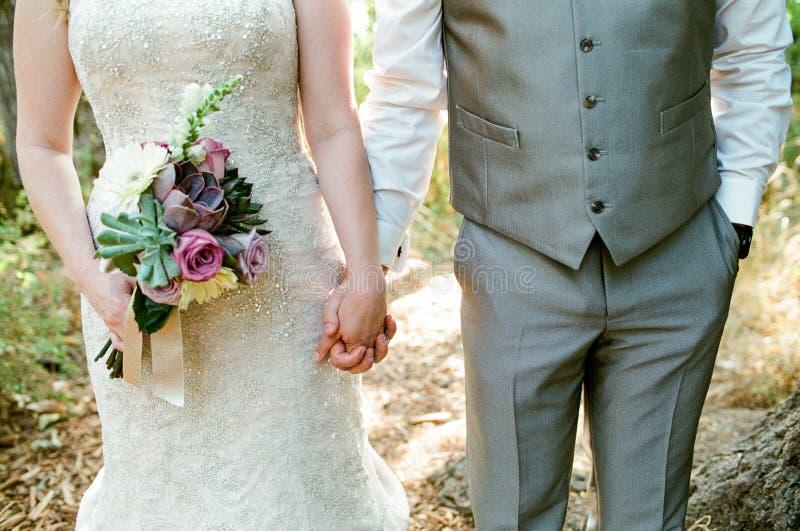 新娘日新郎婚礼 库存照片
