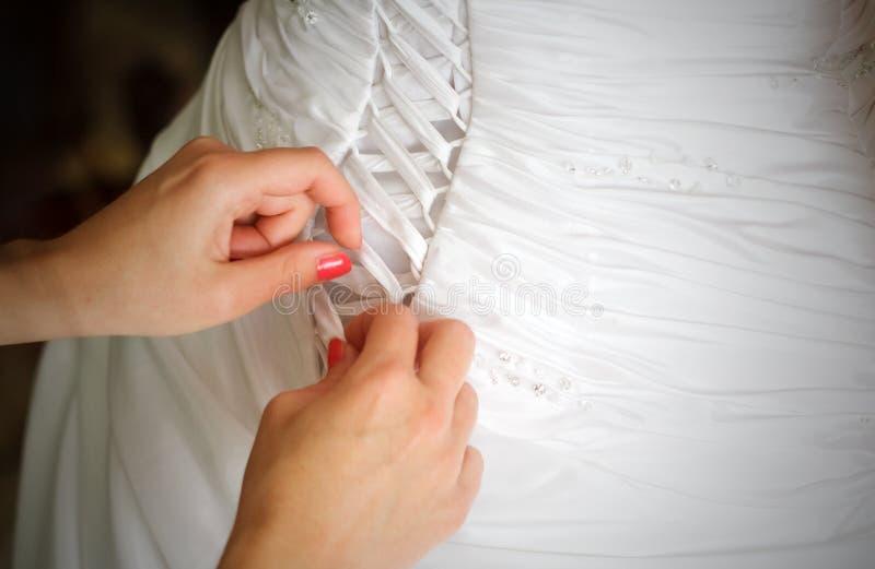 新娘束腰礼服婚礼 库存照片
