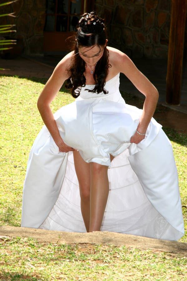 新娘步骤 免版税库存图片