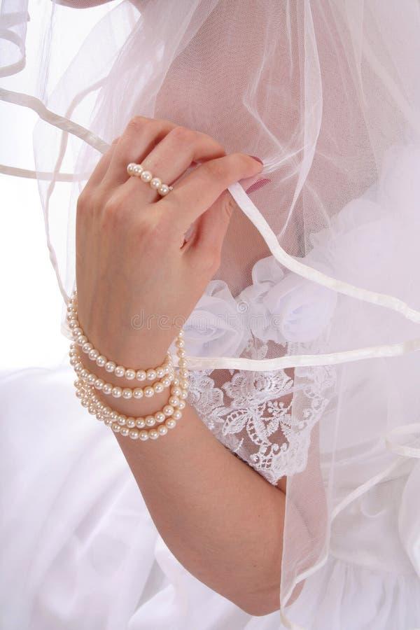 新娘现有量面纱 库存图片