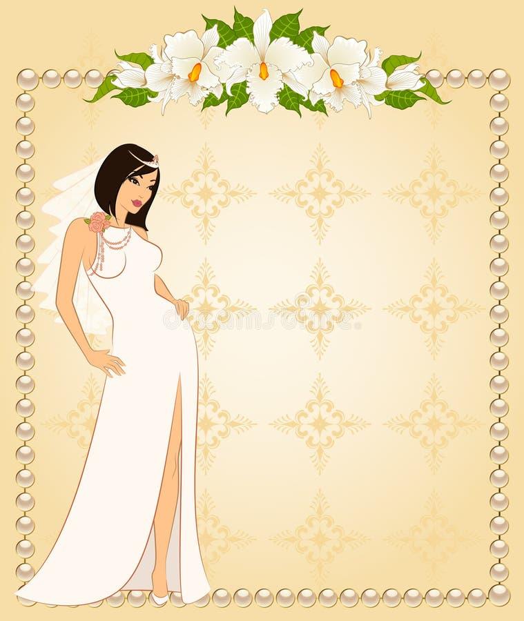 新娘白色服装 库存例证