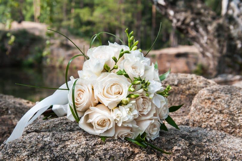 新娘的婚礼花束 图库摄影