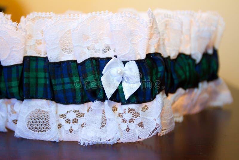 新娘的婚礼袜带 免版税图库摄影