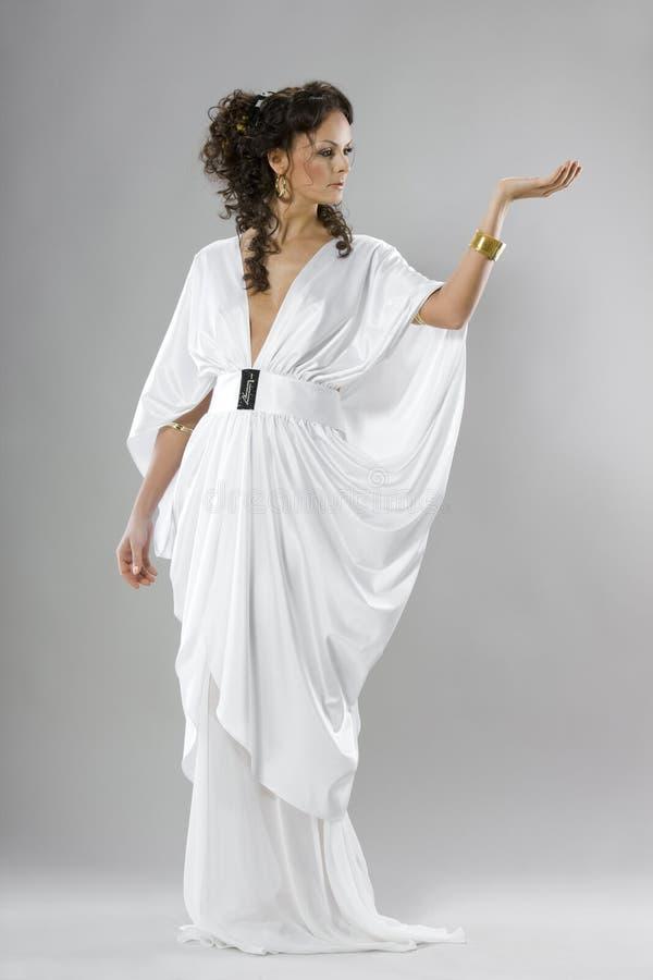 新娘礼服希腊 免版税库存图片