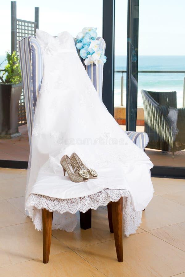 新娘礼服 库存图片