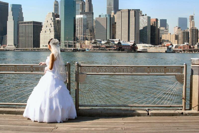 新娘纽约 库存照片