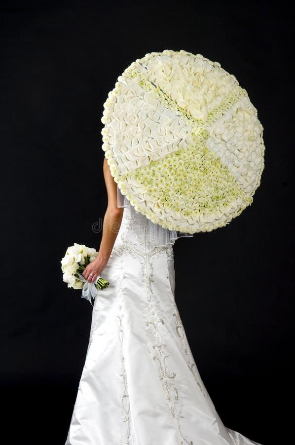 新娘花伞 免版税库存照片
