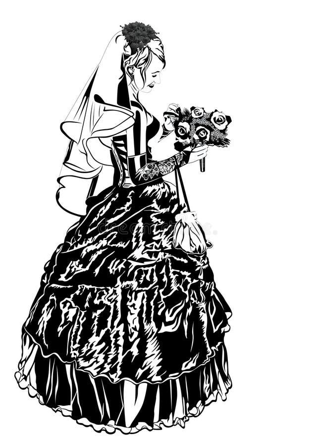Download 新娘花 向量例证. 插画 包括有 婚礼, 面纱, 分级显示, 衣物, 使徒, 剪影, 背包, 妇女, 节假日 - 22357286