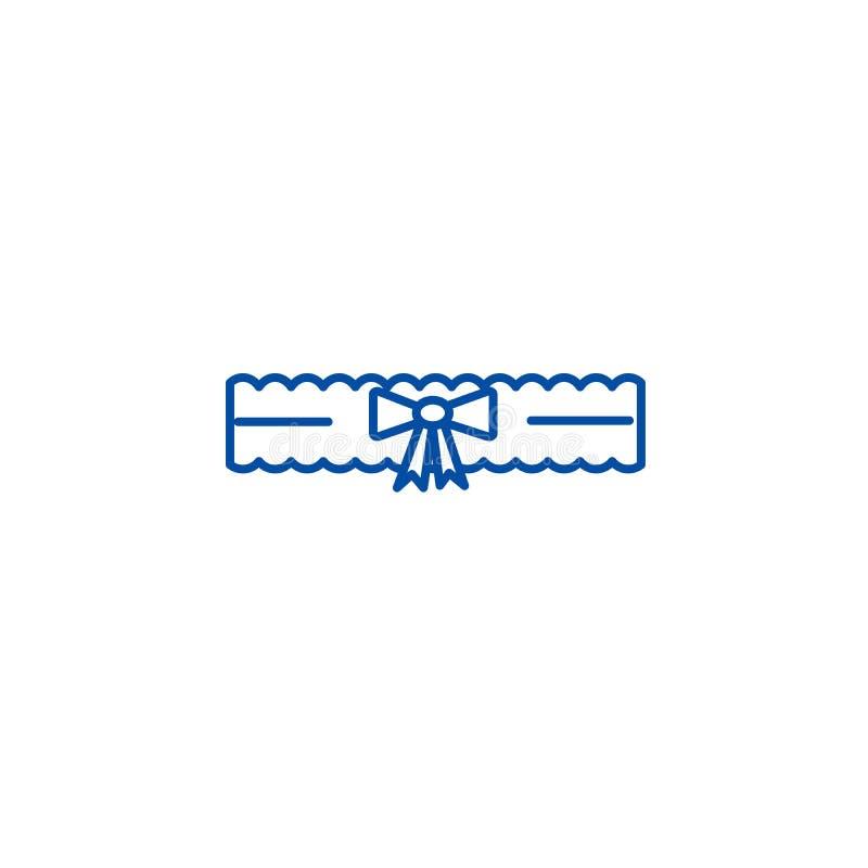 新娘袜带线象概念 新娘袜带平的传染媒介标志,标志,概述例证 向量例证