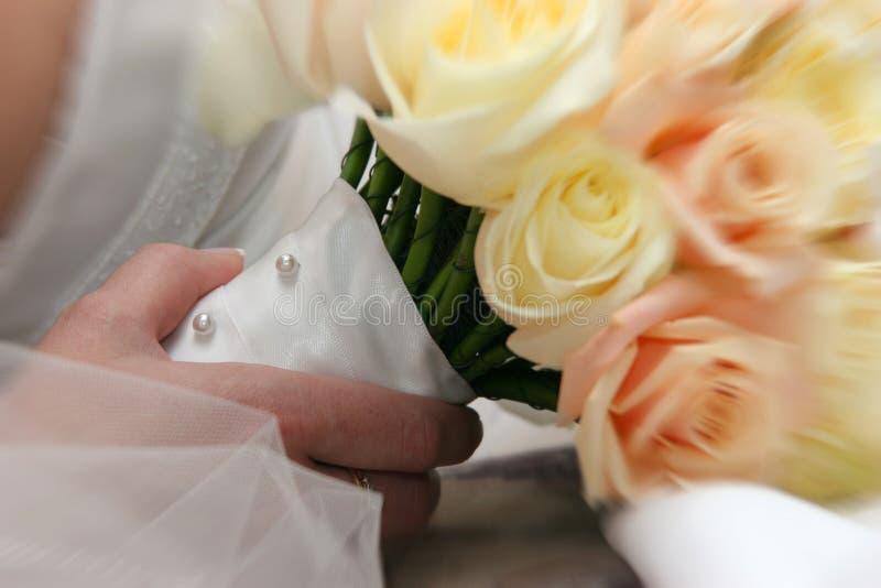 新娘详细资料 库存图片