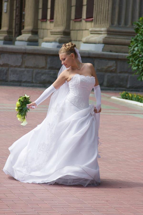 新娘跳舞 库存照片