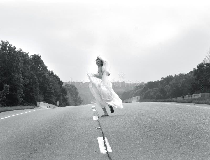 新娘逃亡 免版税库存图片