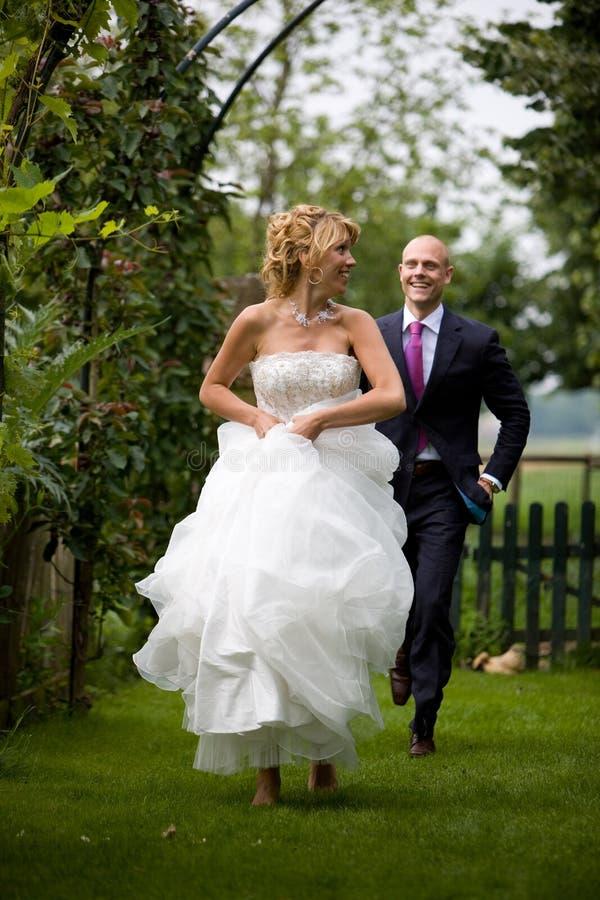 新娘逃亡 免版税图库摄影