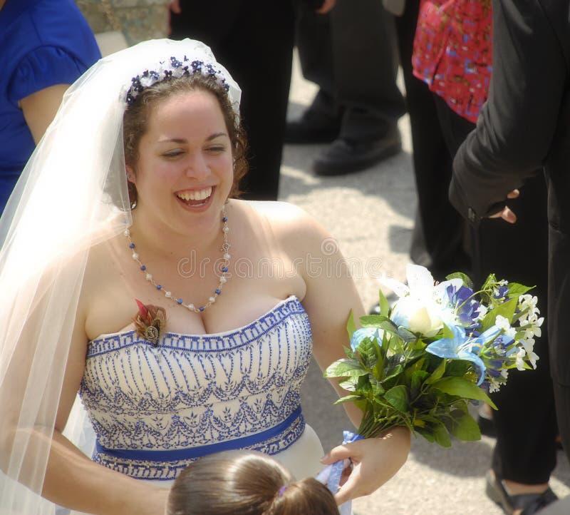 新娘问候客户 库存照片