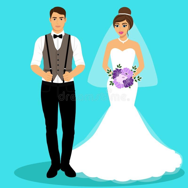 新娘仪式教会新郎婚礼 皇族释放例证