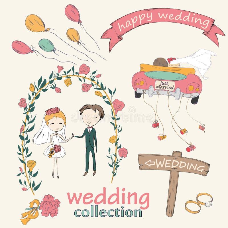 新娘仪式花婚礼 皇族释放例证