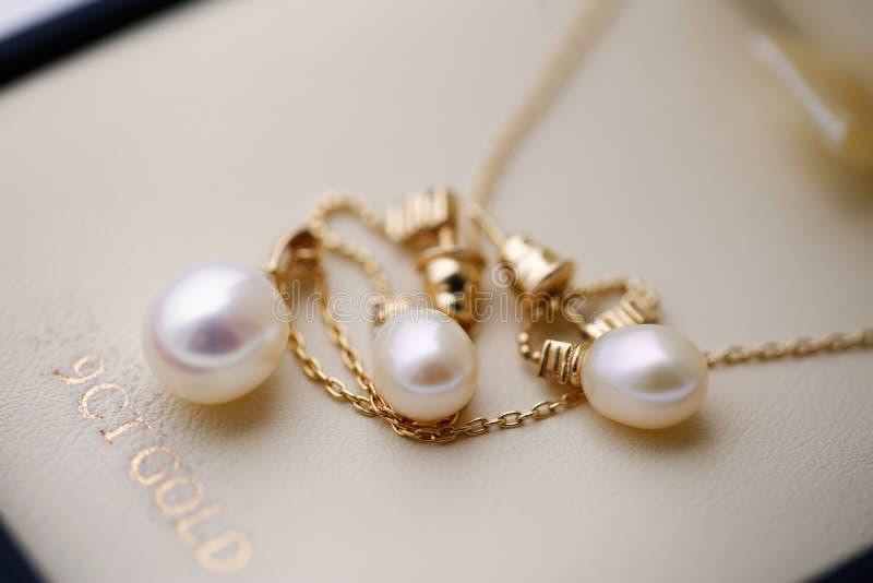 新娘` s首饰美丽的珍珠  库存照片