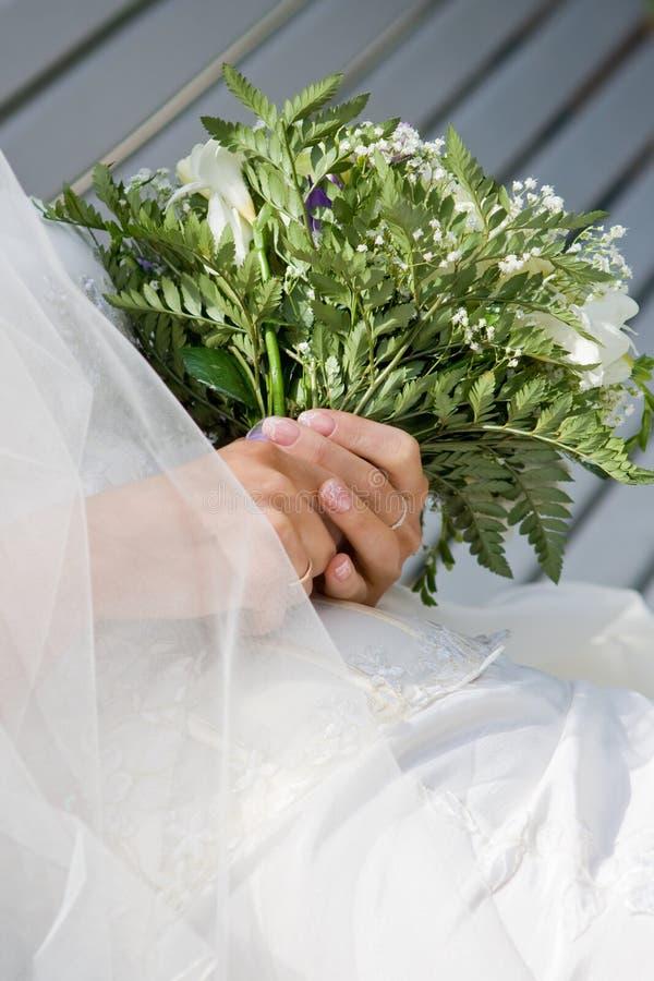 新娘1的花束 图库摄影