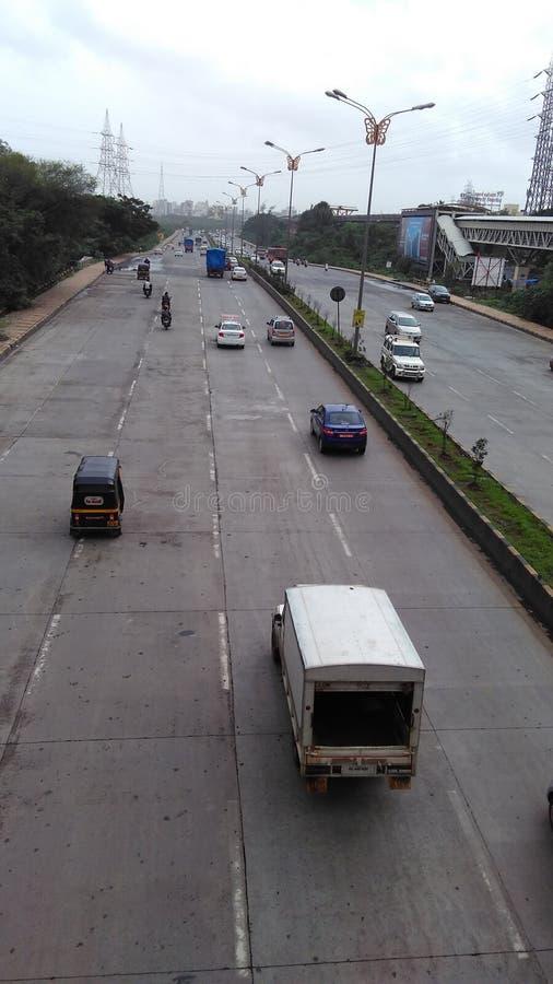 新孟买车行道 库存图片