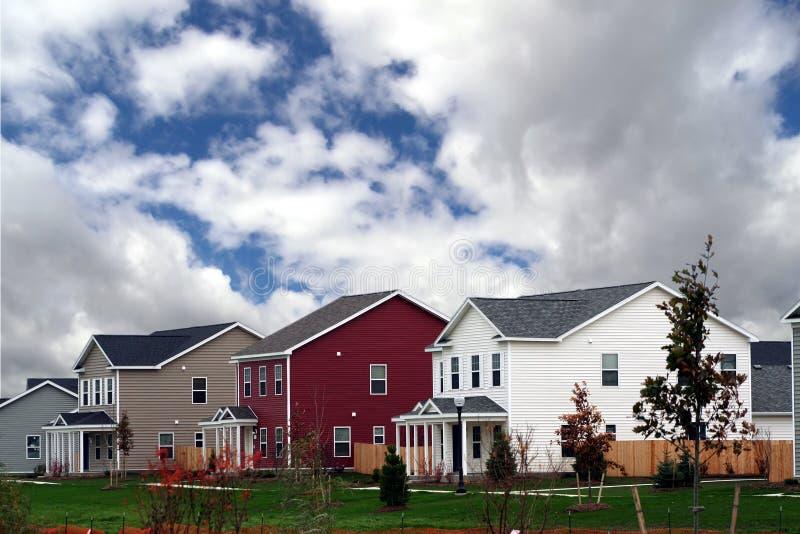 新完成的住房 免版税图库摄影