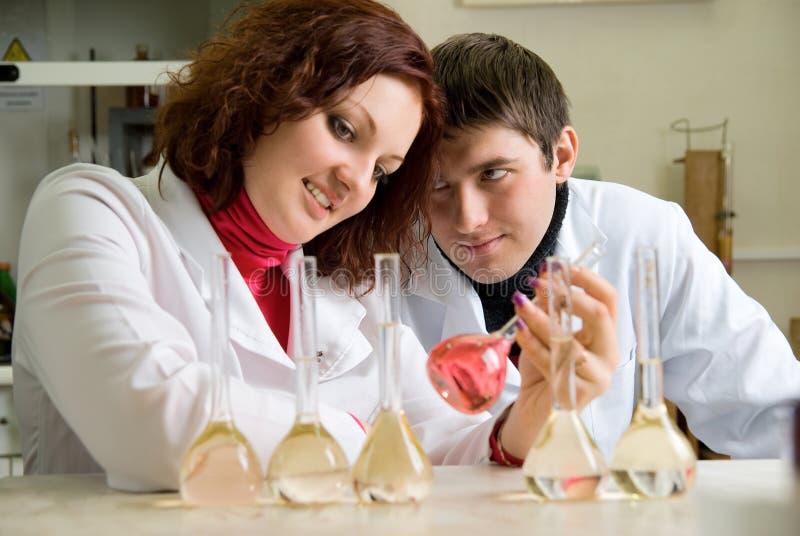 新实验室的科学家 库存图片