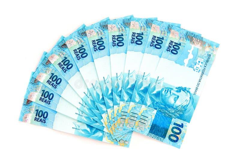 新巴西的货币 库存图片