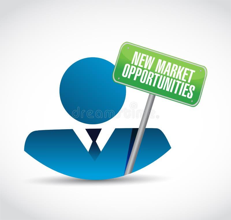 新市场机会人标志概念 皇族释放例证