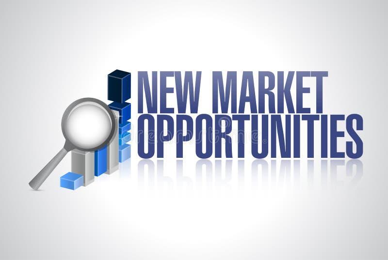 新市场机会企业图表标志 皇族释放例证