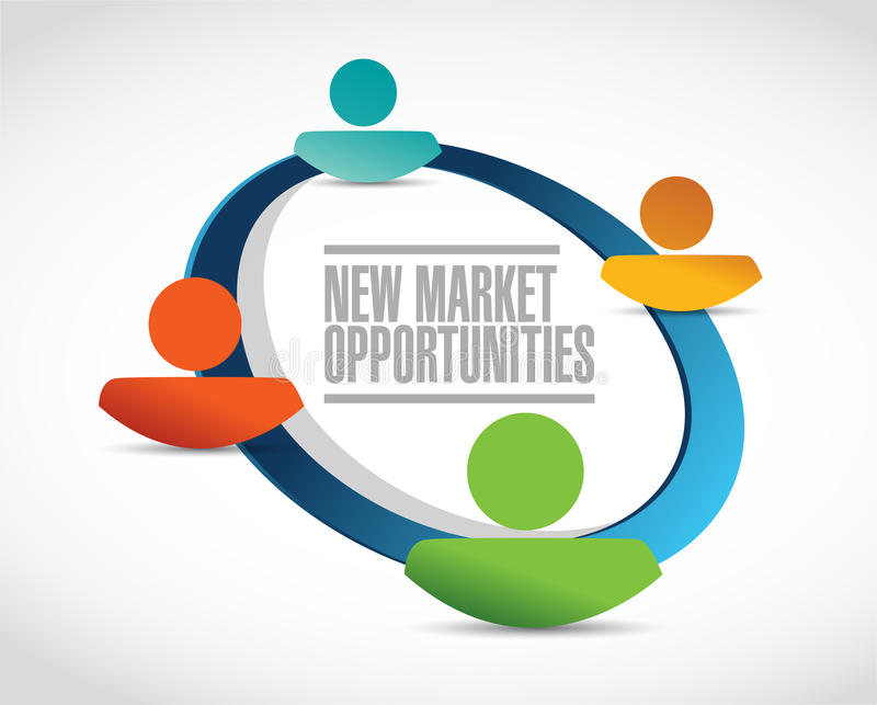 新市场机会配合标志概念 皇族释放例证