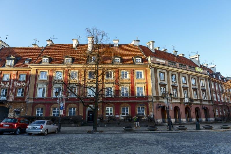 新市镇市场连栋房屋在华沙 免版税库存图片