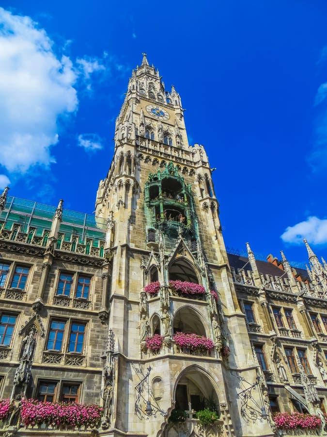 新市镇霍尔在Marienplatz 免版税库存照片