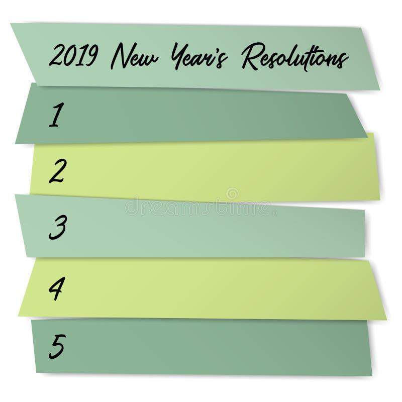 新年决议挑战传染媒介模板 向量例证