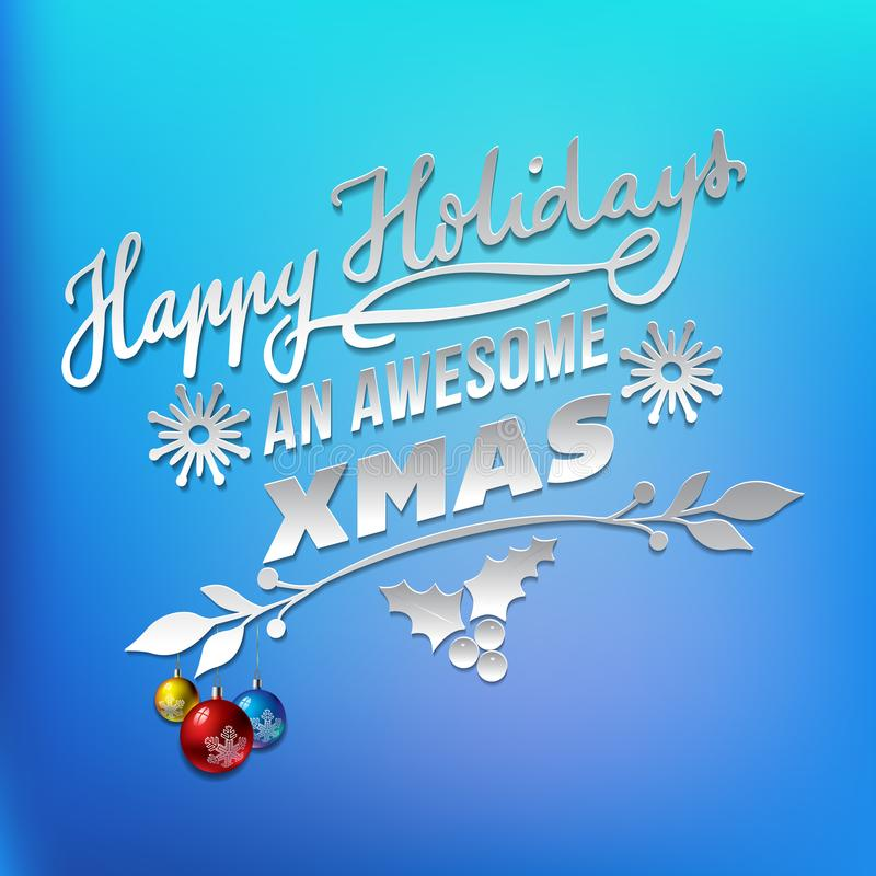 新年和圣诞节问候 向量例证