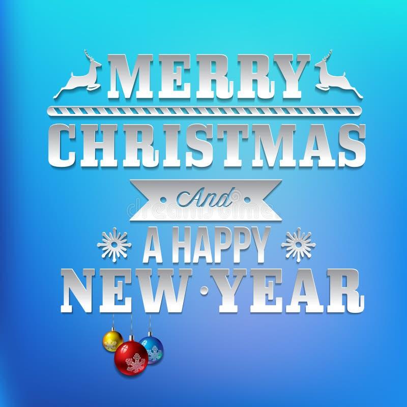 新年和圣诞节问候 库存例证