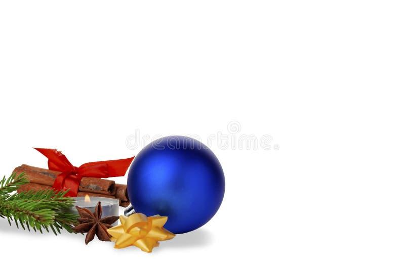 新年和#x27;的主题包括玩具、圣诞树、肉桂、装饰 库存照片