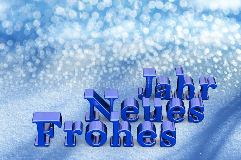 新年在德语的圣诞节文本 免版税图库摄影