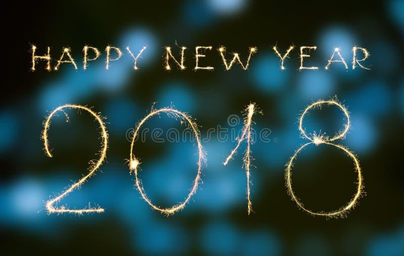 新年好和数字2018年 免版税库存图片