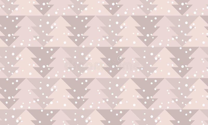 新年好和xmas无缝的样式 库存例证