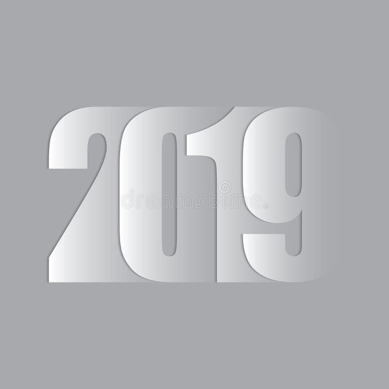 新年好 2019文本 皇族释放例证