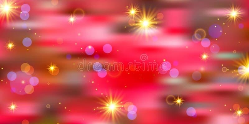 新年好 背景明亮欢乐 库存例证