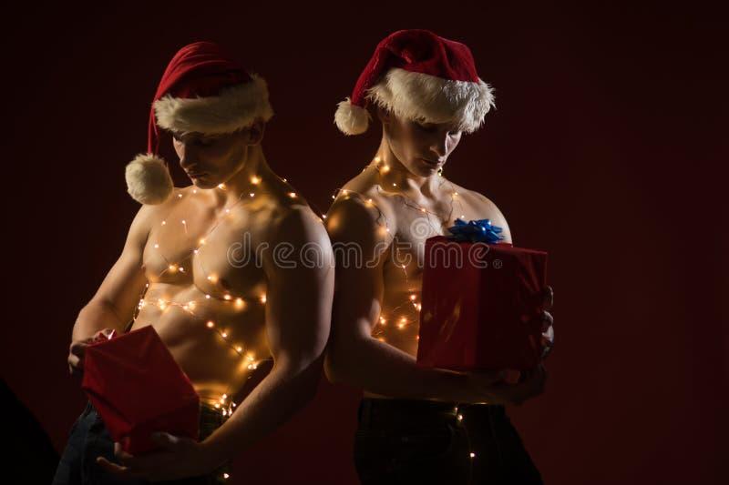 新年小条和礼物成人的 免版税库存图片