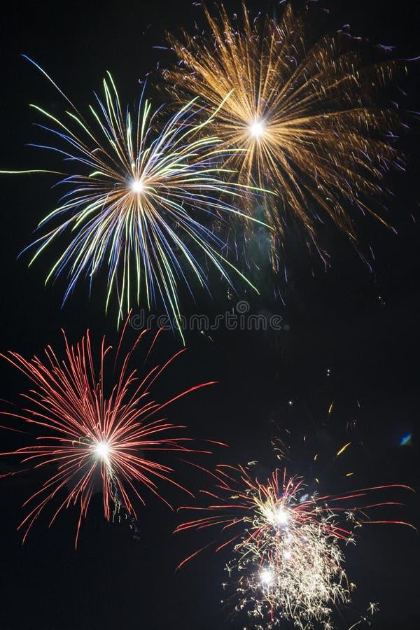 新年庆祝-烟花在巴西 库存照片