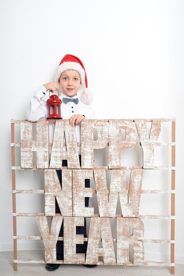 新年度男孩 免版税库存图片