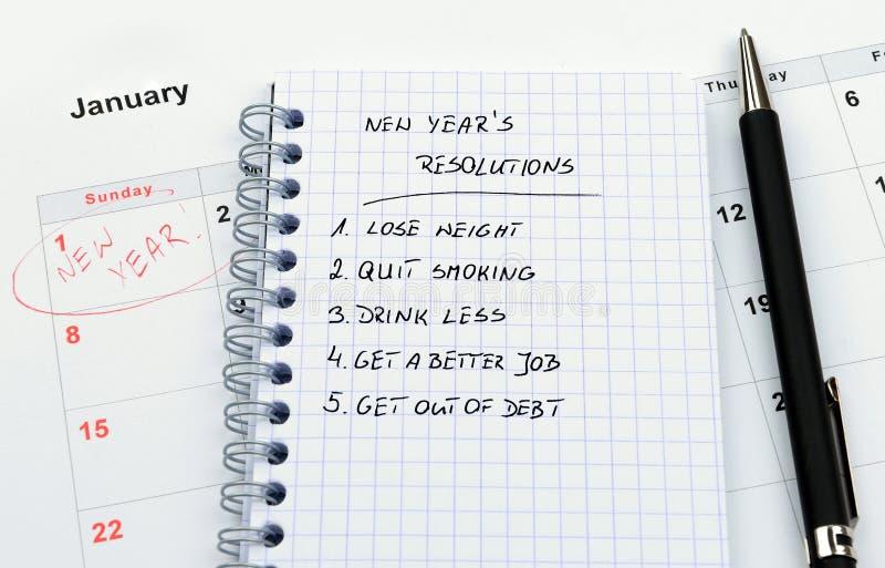 新年度的解决方法 图库摄影